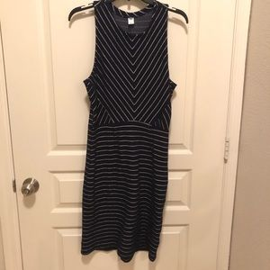 Old Navy Dress Navy Blue and White Size Large